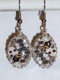 Ohrringe Steampunk Damen Ohrschmuck Modeschmuck Hänger Metalllegierung Glas