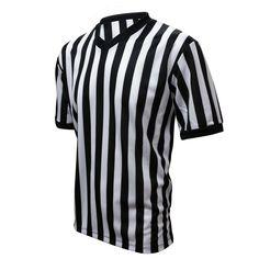 Amazon.com: Winners Sportswear Official V-Neck Striped Referee Shirt Jersey: Sports & Outdoors