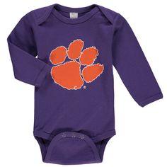 Clemson Tigers Newborn & Infant Long Sleeve Bodysuit - Purple - $18.99