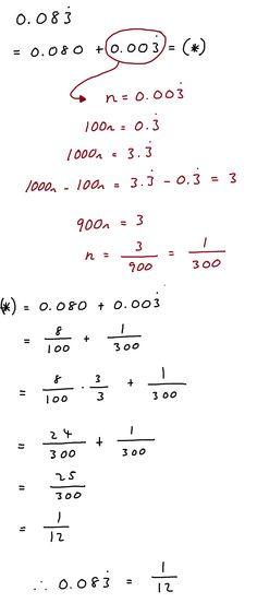 Decimal into fraction...