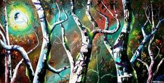 Buy The Forest and the Nebula, Acrylic painting by Andrew Alan Johnson on Artfinder. Discover thousands of other original paintings, prints, sculptures and photography from independent artists.