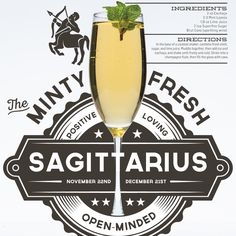 The Cocktail You Should Be Drinking Based On Your Zodiac Sign - Sagittarius♐️Schütze - Trending Healthy Cocktails, Fun Cocktails, Cocktail Drinks, Alcoholic Drinks, Cocktail Garnish, Beverages, Classic Cocktails, Cocktail Recipes, Drink Recipes