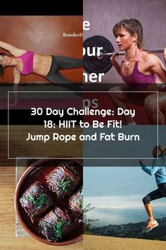 30 Day Challenge: Day 18: HIIT to Be Fit! Jump Rope and Fat Burn Melissa Bender, 30 Day Challenge, Hiit, Fat Burning, Burns, Challenges, Fitness, Challenge 30 Days, Health Fitness