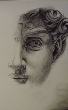Study based on Michelangelo& David, graphite on paper Cool Art Drawings, Pencil Art Drawings, Art Drawings Sketches, Drawing Ideas, Arte Sketchbook, A Level Art, Aesthetic Art, Painting & Drawing, Cave Painting