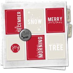 Serendipity Design: Freebie: December Holiday cards