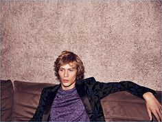 Lounging, Sven de Vries sports a look from Dsquared2.