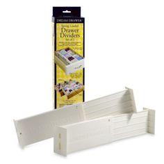 Expandable Spring Loaded Drawer Dividers (Set of 2) - BedBathandBeyond.com