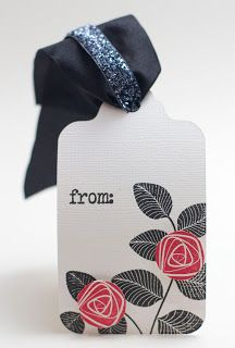 Homemade Cards by Erin tag with WMS stamps and May Arts ribbon