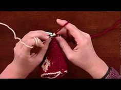 Quick Tip for Armenian Knitting, from Knitting Daily TV Episode 803 ... The unused color is carried along the back and tacked to alternate stitches to avoid long floats.