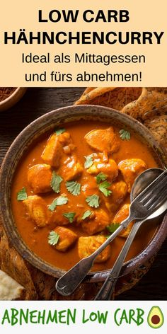 Low Carb Chicken Curry - You should definitely make this recipe yourself . - Low Carb Chicken Curry – You should definitely make this recipe yourself and lose it really well!
