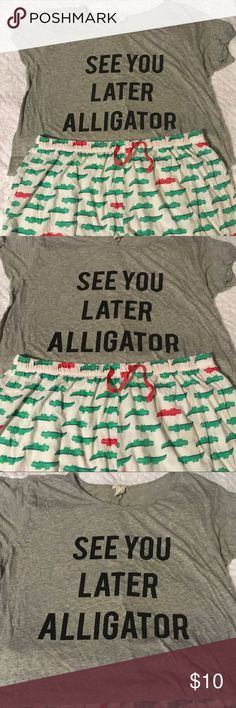 c60a4ce9ef3 NWOT See You Later Alligator Pajama set -  alligator  NWOT  Pajama  Set
