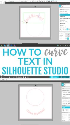 You might think that it's pretty tricky to curve text in Silhouette Studio (or to make in any shape you want) but it's really incredibly easy. We're going to show you just how simple it is to do, using the Convert to Path feature. Silhouette Cameo Machine, Silhouette Vinyl, Silhouette Cameo Projects, Silhouette Portrait Projects, Silhouette America, Silhouette Files, Shilouette Cameo, Silhouette School, Shape