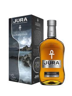 Whisky JURA Superstition 43% -Médaille d'Argent, International Wine & Spirit Competition 2013 Médaille d'or du Beverage Testing Institute 2012 Médaille d'or des SFWSC 2012 Awards Whisky Shop Whisky de l'année 2012 - Carrefour 36 €