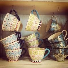 Sets of pretty mugs to match the day or your mood.