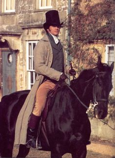 ST5.1 'Just when Darcy had finally thought himself rid of his childhood nemesis, Wickham had raised the spectre that he might continually haunt him for the rest of their lives.' This pic - Colin Firth as Mr Darcy Pride and Prejudice (1995)