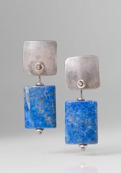 Holly Masterson Lapis Lazuli Slab Earrings