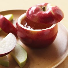 Fun Ideas for Rosh Hashanah - Apple Bowls - View more holiday ideas on mazelmoments.com
