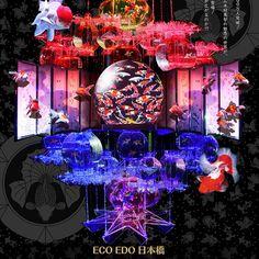 5千匹の金魚が織り成す水中アート「アートアクアリウム展」が今年も日本橋で開催 osaka