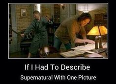 Jensen Ackles as Dean Winchester and Jared Padalecki as Sam Winchester in Supernatural ♡ ♡ ♡ ♡ ♡ Sam Winchester, Winchester Brothers, Jensen Ackles, Sam Dean, Castiel, Impala 67, Medici Masters Of Florence, Supernatural Memes, Supernatural Seasons