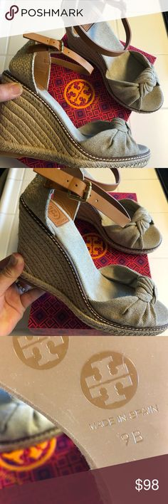 "I just added this listing on Poshmark: Tory Burch ""Macy"" Linen Espadrille  Wedge"