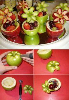 Flower apples