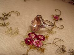Pink Topaz Ring Sz8 CLEARANCE SALE by MsMuffinTiggywinkles on Etsy, $3.99