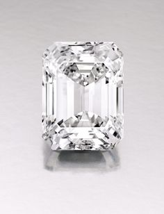 The diamond is the largest perfect emerald-cut diamond ever to come up for auction.