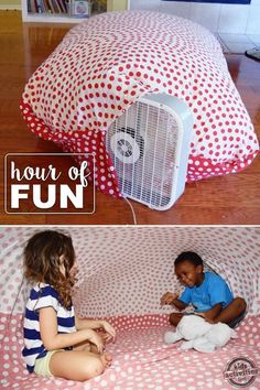 Your kids will love this fun giant air bubble activity. So easy and lots of fun!