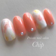 Check it out. Love Nails, Pretty Nails, My Nails, Spring Nails, Summer Nails, Mani Pedi, Manicure, Marble Nail Art, Cute Nail Art