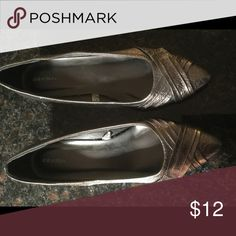 Bronze shoes with 1 inch wedge heel New Pointed toe bronze shoes Xhilaration Shoes Flats & Loafers