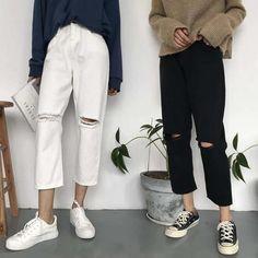 f138df99b79 Jeans. White Ripped JeansJeggingsBoyfriend JeansPants For WomenDenim ...