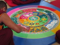 sand mandala. Very similar to the one I saw in Lawrence, KS.