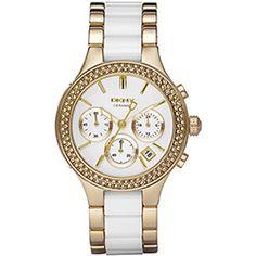 Relógio DKNY Feminino Analógico Social  Dourado c/ Branco - GNY8182