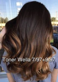 Brunette toner brown Wella color formula – - Hairstyles For All Brunette Color, Blonde Color, Brunette Hair, Black Hair Ombre, Ombre Hair, Light Blonde Hair, Dark Hair, Brown Hairs, Brassy Hair