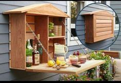 to Build a Fold-Down Murphy Bar IDEA ✎ cool for garden tools too?IDEA ✎ cool for garden tools too?