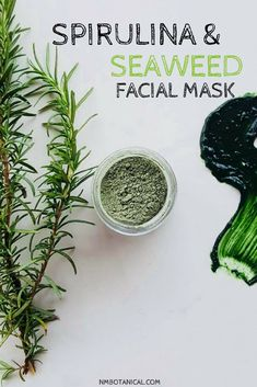 Spirulina & Sea Weed Facial Mask is rich in Chlorophyll makes a Superb Deep Hydrating formula for the face, neck and delicate area around Eyes. Our mask will detox your skin, unclog your pores, while also soothing your skin and tightening your pores. Masks are a must in any skin ritual. Our mask works great for virtually all skin types, even sensitive skin! #seaweed #spirulina #greenmatchatea #facialmask Spirulina, Diy Skin Care, Skin Care Tips, Organic Matcha Green Tea, Healthy Skin Tips, Healthy Beauty, Fashion And Beauty Tips, Homemade Face Masks, Organic Beauty
