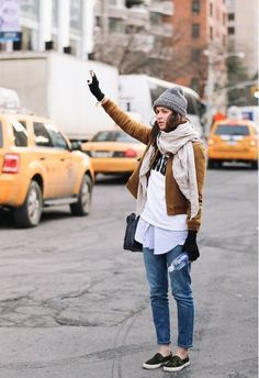It Jives Perfectly With Sweatshirts - Ways To Style A Beanie This Season - Photos