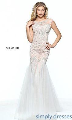 8a290a3828 Beaded Lace Sherri Hill Prom Dress