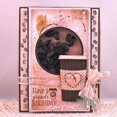 Our Daily Bread Designs Stamp Sets: I Love Coffee, Rise And Shine, Our Daily Bread Designs Custom Dies: Beverage Cup, Flourished Star Pattern, Circle, Pierced Circle, Our Daily Bread Designs Paper Collection:  Ephemera Essentials