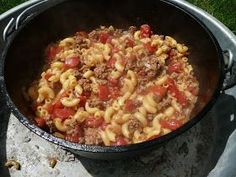 When I first saw this recipe I thought, aha, a perfect one pot meal for camping.  Now that I've made it, it is so amazingly good that...