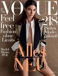 Lily Aldridge featured on the Vogue Germany cover from August 2016