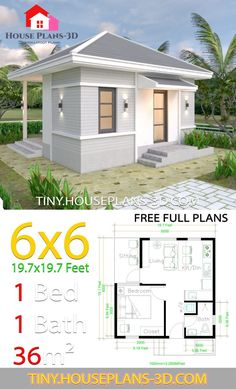 Granny pods floor plans Granny pods floor plans Small House Plans with One Bedroom Hip Roof - Tiny House Plans 3d House Plans, Simple House Plans, Basement House Plans, Craftsman House Plans, Bedroom House Plans, Tiny Cabin Plans, Tyni House, House Roof, Small House Decorating