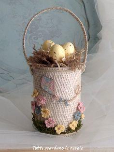 Spring Easter Basket DIY (Пасхальная корзинка из консервной банки мастер-класс)