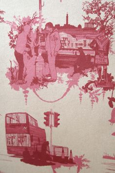 Timorous Beasties Wallcoverings - Edinburgh Toile  available at walnut wallpaper #wallpaper