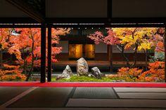 Fall colors at The Oldest Zen Temple Kenninji, Kyoto Japanese Garden Design, Japanese Landscape, Japanese Interior, Japanese House, Japanese Gardens, Japan Garden, Garden Park, Parks, Kyoto Japan