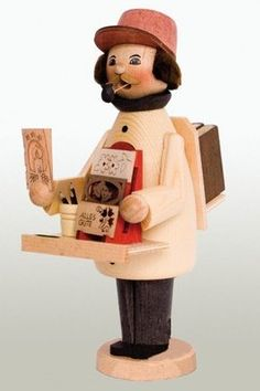 Book Trader German Wooden Christmas Incense Smoker Made in Erzgebirge Germany | eBay