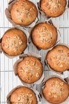 Bakery Style Banana Nut Muffins - Little Sweet Baker