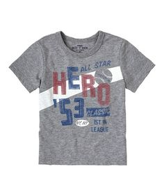 Another great find on #zulily! Medium Heather Gray 'Hero' Tee - Infant & Toddler #zulilyfinds