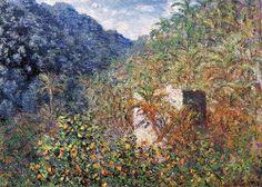 La Vallée de Sasso, effet bleu (C Monet - W 859), 1884.