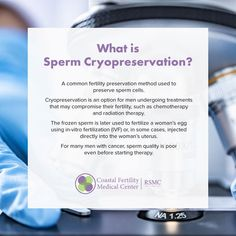 Coastal Fertility is proud to offer a wide range of services. Sperm Cryopreservation is commonly used to preserve sperm cells for men undergoing radiation or chemotherapy treatments, or transgender before undergoing hormonal and/or surgical transition. If you have questions about how we can help, please schedule a complimentary consultation using the link. #menshealth #spermpreservation #cancersucks #buildingfamilies #lovetobeparents #creatingfamilies #reproductivehealth #parenthood #family